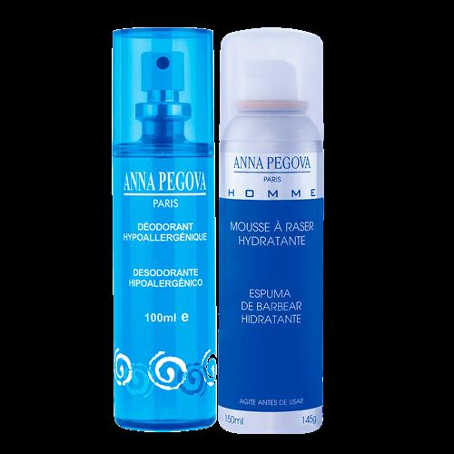 Desodorante sem perfume + Espuma de Barbear Pegoff Anna Pegova